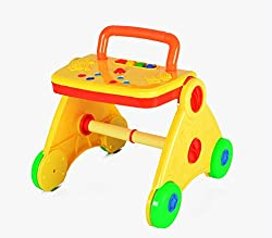 Online Shopo Kart Activity Baby Walker - Colorful & Interactive (Yellow)