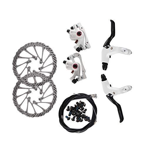 BALLSHOP Fahrrad Scheibenbremse Bremsen Set Hydraulisch Scheibe vorne&hinten Bremsscheibe -