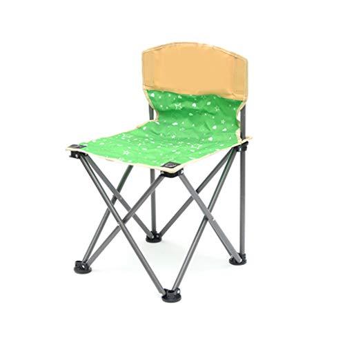 BFQY FH Chaise Pliante Portable extérieure, Chaise rembourrée en Toile décontractée Pique-Nique en Plein air, Chaise Pliante Auto-Conduite 37 × 37 × 60cm, Vert