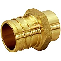 Everflow PSMA1238-NL Lead Free 1/2-Inch Male Sweat x 3/8-Inch Pex Barb Brass Adapter