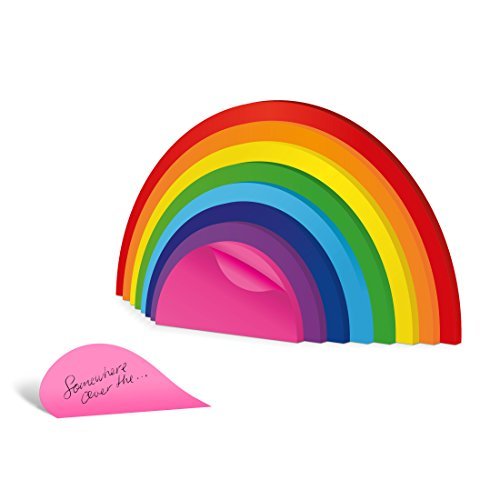 Mustard M16074 Blocchetto Post Nota Adesivo - Vari Colori Arcobaleno Rainbow Sticky Notes