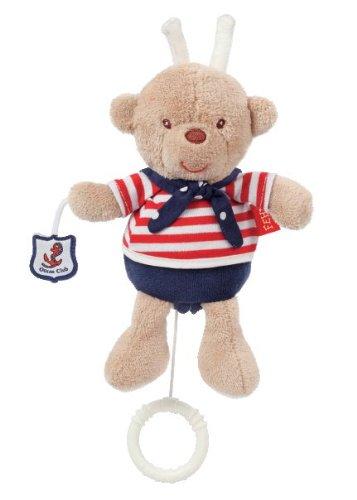 Fehn 078411 Mini-Spieluhr Teddy / Kuscheltier mit integriertem Spielwerk mit sanfter Melodie zum Aufhängen an Kinderwagen, Babyschale oder Bett, für Babys und Kleinkinder ab 0+ Monaten