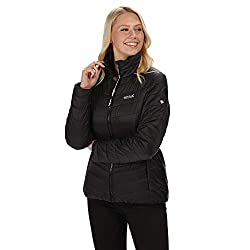 Regatta Damen Womens Freezeway Lightweight & Water Repellent Down-Touch Insulated Puffa Jacket Steppjacken, Schwarz, XXS (8)