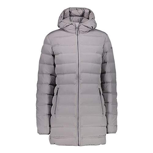 CMP Wintermantel Woman Parka Fix Hood Grey Mel. D44