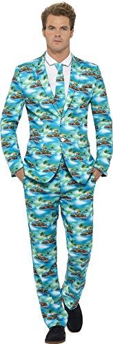 Smiffys Herren Aloha! Anzug Kostüm, Jacke, Hose und Krawatte, Größe: M, 40083 (Mens Scary Halloween Kostüme Ideen)