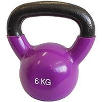 LiveUP Sports - Vinil Kettlebell 6 kg pvc, Iron Ferro Vinile Pesi Allenamento Fitness Cross