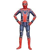 BLOIBFS Spiderman Cosplay Kostüm Body Erwachsene Kinder Held Spandex Overalls Halloween Maskerade Voller Kleidung,Adult-S