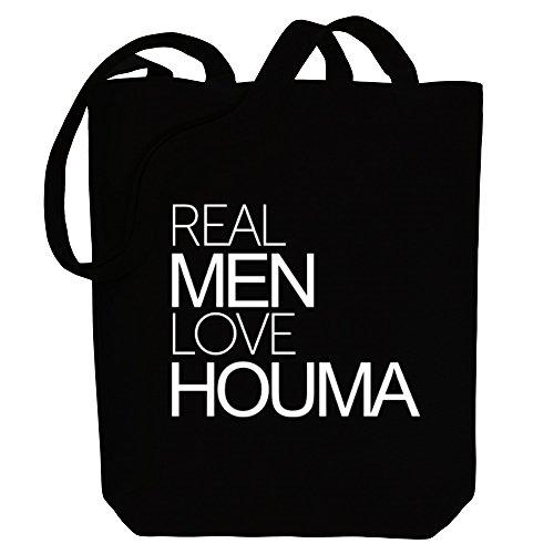 Idakoos Real men love Houma - US Städte - Bereich für Taschen