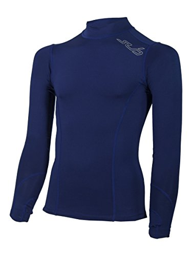 Sub Sports Fitted Cold Winter Kinder Thermo-Langarmshirt/Unterhemd mit Halbkragen, LY, Marineblau (Sub 12 Flache)