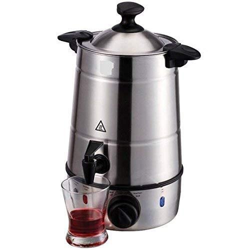 HotButler Glühweinkocher Glühweinkessel mit Zapfhahn, Heißgetränkeautomat mit 2200 W, 6,5 L Wasserspender Einkochautomat, Edelstahlgehäuse: