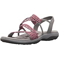 Skechers Women's Reggae Slim-Stretch Appeal-Z-Gore Slingback Sandal, Rose, 9 M US
