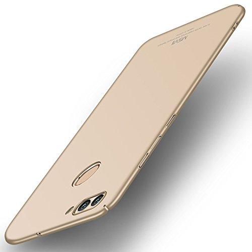 Huawei nova 2 Hülle, MSVII® Sehr Dünn Hülle Schutzhülle Case Und Displayschutzfolie für Huawei nova 2 (Nicht mit Huawei nova kompatibel) - Blau JY00228 Gold