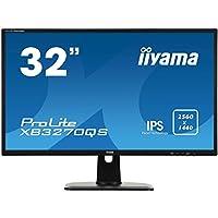 iiyama Prolite XB3270QS-B1 80cm (31,5 Zoll) IPS LED-Monitor WQHD (DVI, HDMI, DisplayPort, Höhenverstellung) Schwarz