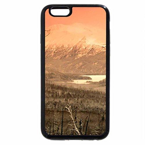 iPhone 6S / iPhone 6 Case (Black) winter embraced skilak lake alaska