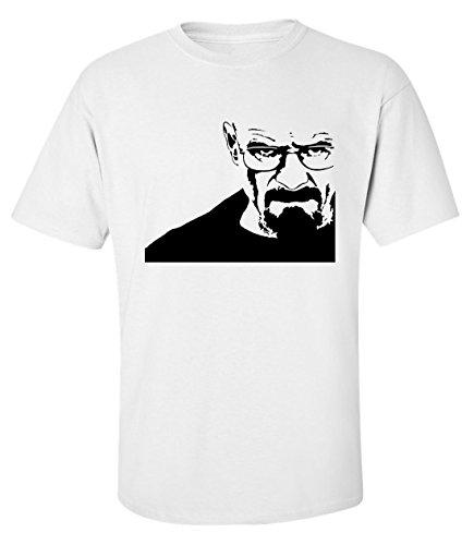 (Heisenberg Breaking bad stencil portrait dope t-shirt herren baumwoll weiss (L))