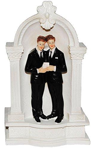 Unbekannt XL Spardose - Pagode mit Männer / Schwulen - Brautpaar - Hochzeitsreise - stabile Sparbüchse aus Kunstharz - Sparschwein - lesbisches Hochzeitspaar / Schwulen..