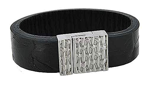 POLICE Armband Heren PJ.23877BLB/01-S LEDER schwarz UVP:65,-? NEU 8275