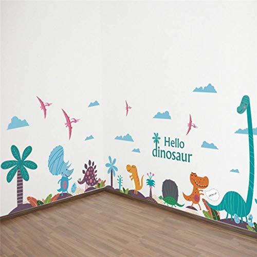 LIU Cartoon Tier Bunte Dinosaurier Palm Tree wandaufkleber für kinderzimmer Kindergarten Kinder abziehbilder wandbilder DIY Dekoration