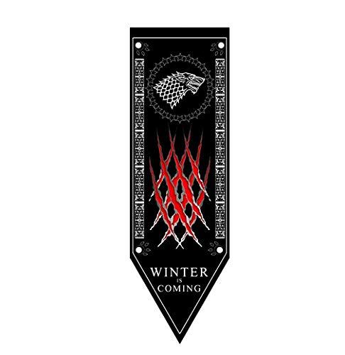 Juego de Tronos Banner Casa Banderas Sigil de Pared (46X150 CM), Banderas Colgando de la Barra del Club salón decoración del Dormitorio