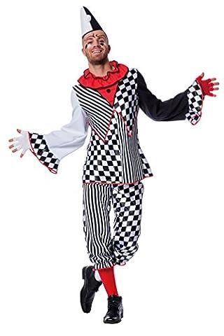Karneval Klamotten' Kostüm Pierrot Clown Herr Karneval Zirkus Herrenkostüm Größe 60