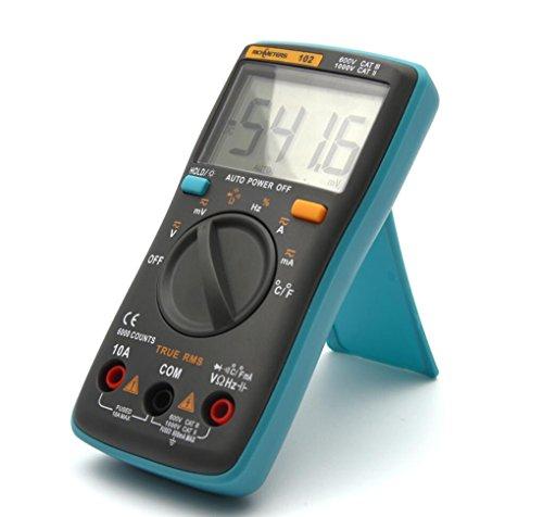 Hycy 102 Multimeter 6000 Zählt Gegenlicht AC/DC Amperemeter Voltmeter Ohm Frequenz Diode Temperatur