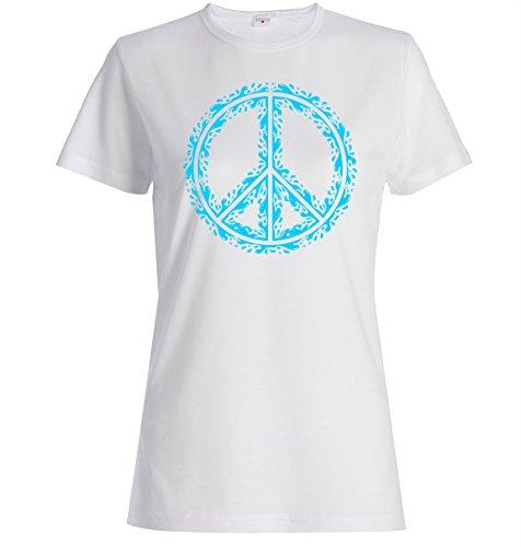 Water splash peace sign dope Women's T shirt XX-Large (T-shirt Peace Sign Blue Frauen)