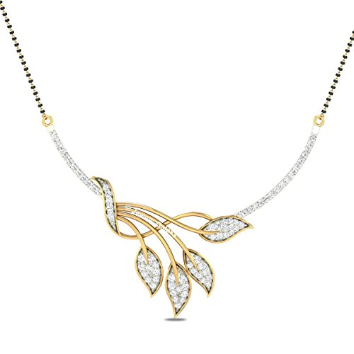 Jewels Galaxy Elegant Precious White Aaa American Diamond Mangalsutra For Women