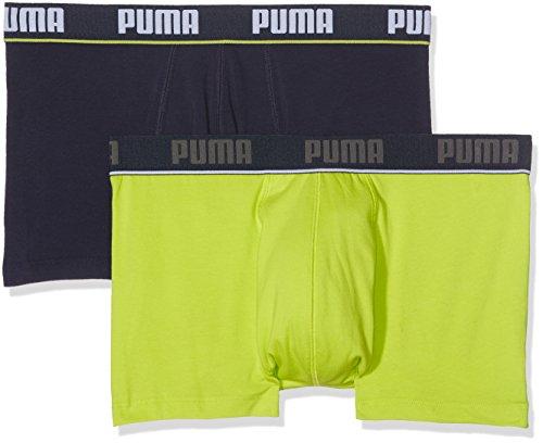 Puma Herren Basic Trunk New Waistband 2p Unterhose Lime Punch