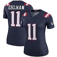 Patriotas de Nueva Inglaterra de Rugby Jersey # 11 Edelman Tech Transpirable Jersey Vestido la Camiseta de Rugby Traje for la Mujer (Color : Black B, Size : XL)