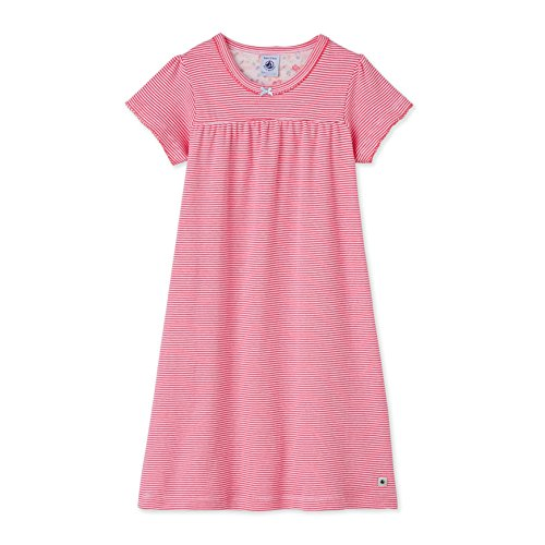 Petit Bateau Chemise de Nuit_22555, Camicie da Notte Bambina, Mehrfarbig (Peony/Ecume 08), 8 anni