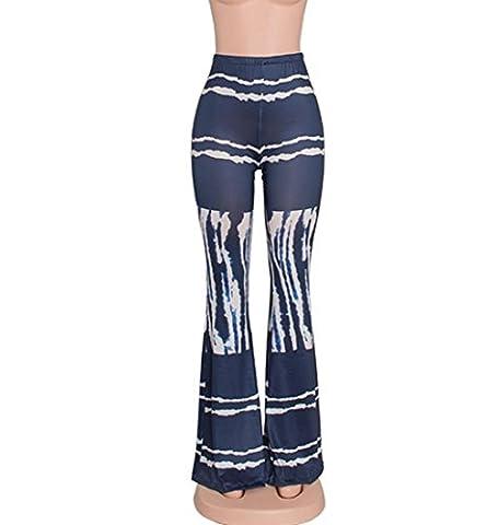 HZHF Mode für Frauen Sexy Digital gedruckte Schlaghose Stretchy Gamaschen Bootcut Hosen , 1 , m (Mermaid Gamaschen Kostüm)