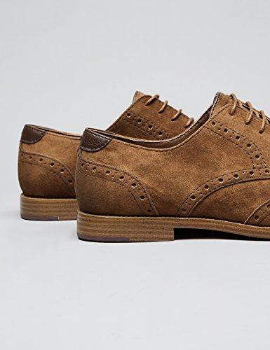 FIND Chaussures Richelieu Homme Marron (Tan)