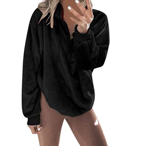 Darringls Felpa con Cappuccio, Felpe Donna Tumblr Maglia Sportivo Magliette Cerniera Diagonale Top Donna a Manica Lunga Ragazza Cool Pullover Felpa per Donna Oversize Sweatshirt
