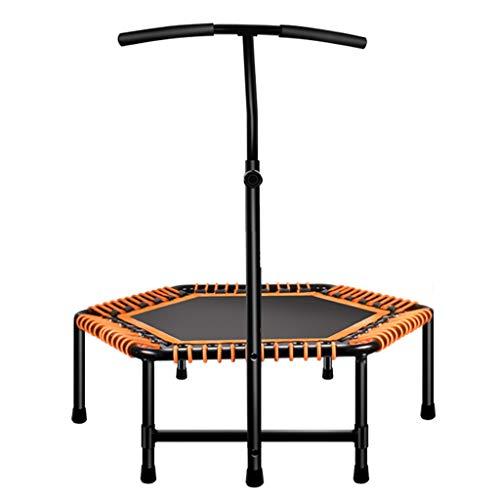XYWLYLHOME Tragbares Indoor-Trampolin - Mit Verstellbaren Armlehnen - Faltbar - Fitness-Trampolin FüR Erwachsene - HäLt 225 Kg Aus
