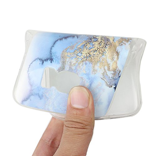 Handyhülle Galaxy S7 Marmor, Asnlove Silkon Galaxy S7 G930 Marble Hülle Silicone TPU mit IMD Schale Case Cover Tasche Schutzhülle für Samsung Galaxy S7 G930F, Blau Color-10
