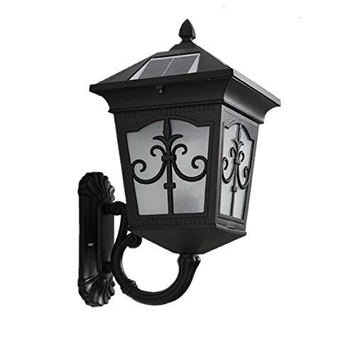 Solar-licht-spalte (Solar Licht Im Freien Wasserdichte Villa Im Freien Garten Hof Wand Gang Korridor Wandleuchte Balkon Spalte Kopf Licht,Black)