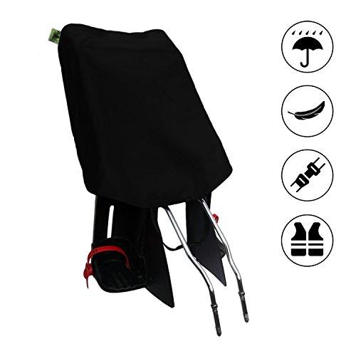 Preiswerter Basis-Regenschutz für Fahrradkindersitz - CityFrog Basic - Tiefschwarz (Abdeckung Zusätzliche)
