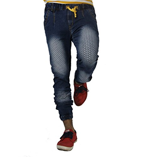 Won.99 Men's Slim Fit Jogger Jeans (psoo221_Light Blue_32)
