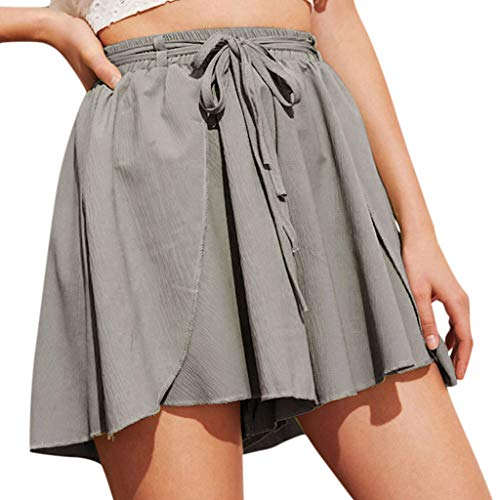 Solide Jugend-jungen Cargo (Watopi Damen shorts Sommer High Waist Loose Hosen Shorts Elegant Freizeit Shorts Damenhosen Strandshort hot pants)