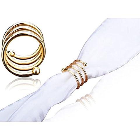 Anello di tovagliolo a forma di spirale/ tovagliolo/ Anelli di tovagliolo Hotel-A