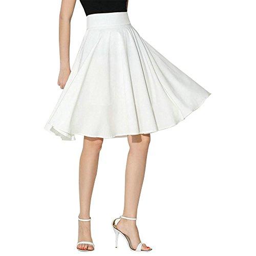 Beautyjourney Falda Mujer Vintage A-Line Swing Falda