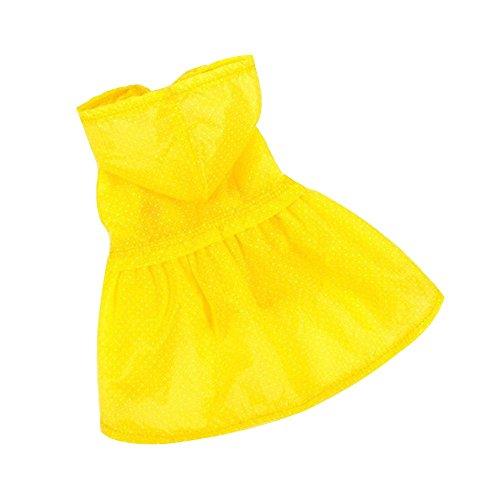 Eizur Sommer Hundeweste Haustier Hund Katze Warnweste Hundebekleidung Welpen Hundemantel T-Shirt Pet Kleidung Bekleidung Weste Mantel Klimaanlage Kostüme Outfit Größe XS - Gelb