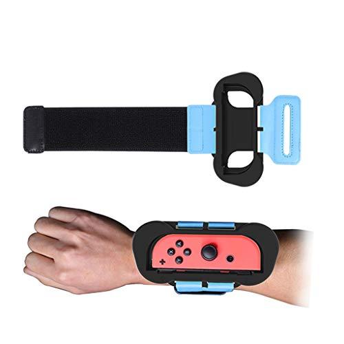 Just-Dance Left Right Armband für N-Switch JoyCon Gamepad, Karruier 2PCS Elastischer, verstellbarer Handgelenkriemen für alle Handgelenksgrößen, für Kinder und Erwachsene