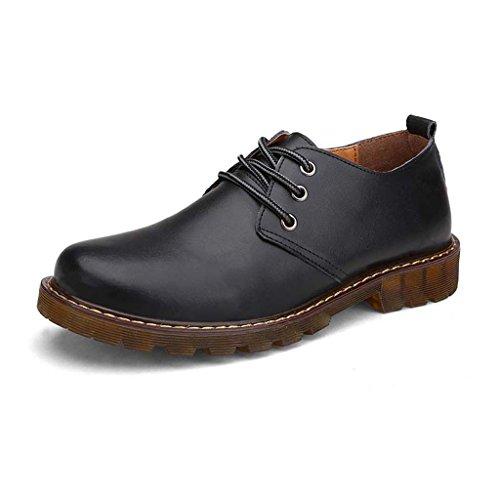 ZXCV Chaussures de plein air Chaussures en cuir Oxfords occasionnelles ( Couleur : Noir , taille : 38 ) Noir