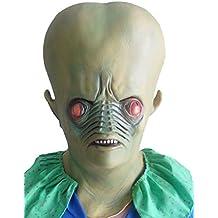 Alien alien alien mask - Perfecta para carnaval, Halloween y carnaval - Disfraz de adulto - Latex, unisexo One size