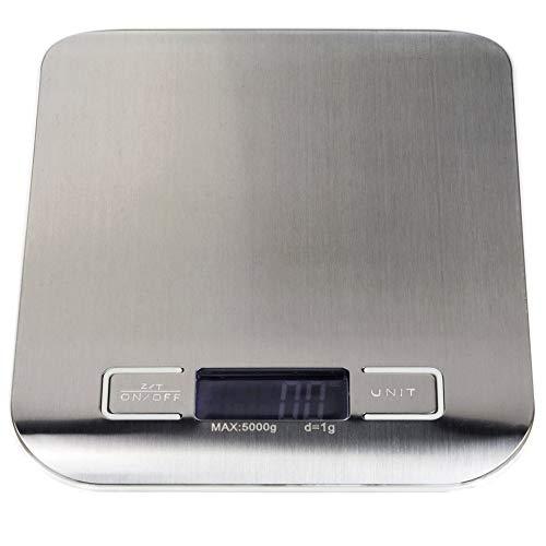 Edelstahl Digital Küche Maßstab-LCD-Display, Batteriebetrieb Lebensmittel Skala (18kg, G, ML, OZ), genaue und präzise Messen von kÿchen (Oxo-digital-skala)