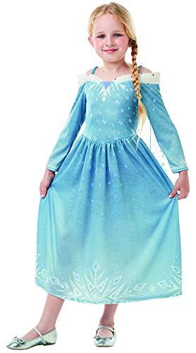 Luxuspiraten - Mädchen Kinder ELSA Frozen Olaf´s Adventure Classic Kostüm mit Prinzessinnenkleid und Cape, perfekt für Karneval, Fasching und Fastnacht, 98-104, - Elsa Kostüm Mit Cape