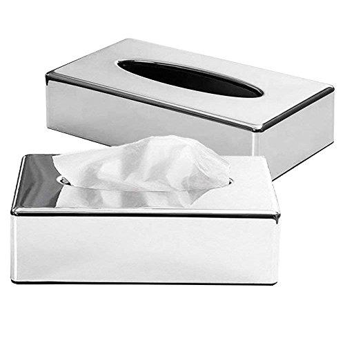 CROWNSTARQI Taschentuchbox-Abdeckung, Halter für Kleenex-Tücher, Ständer zur Badezimmer-Organisation Braun(Zwei Packungen)
