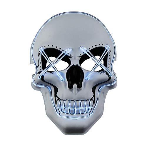 Schildeng Partei Maske Beleuchtung Maske LED Scary