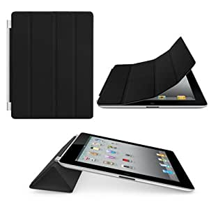 gorillagard Leather Ultra Slim Magnetic Flip Stand and Auto Sleep/Wake Function Compatible for iPad 2/3/4 Black